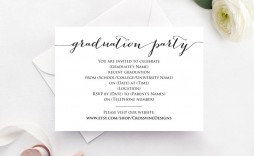 006 Archaicawful Graduation Party Invitation Template Photo  Microsoft Word 4 Per Page