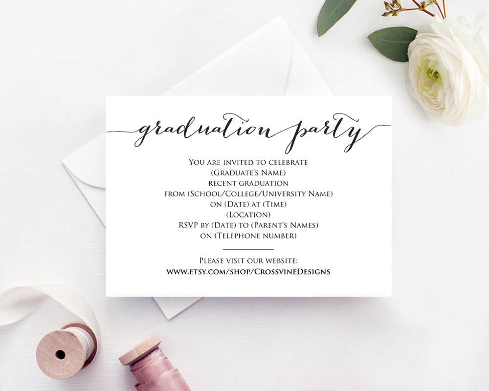 006 Archaicawful Graduation Party Invitation Template Photo  Microsoft Word 4 Per PageFull