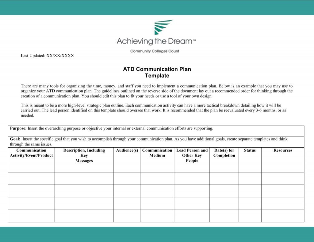 006 Archaicawful Internal Communication Plan Template Idea  Free Pdf ExampleLarge