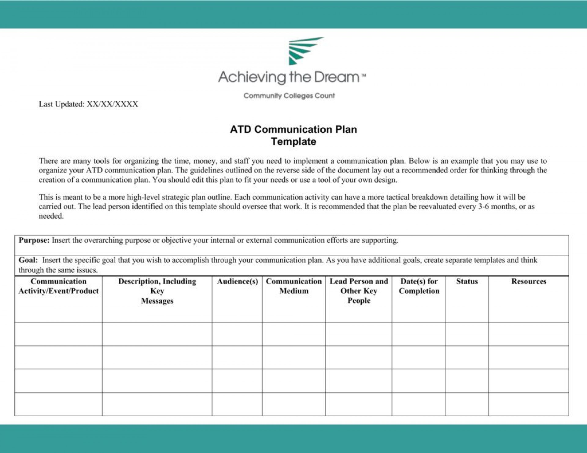 006 Archaicawful Internal Communication Plan Template Idea  Free Pdf Example1920