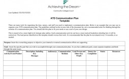 006 Archaicawful Internal Communication Plan Template Idea  Free Pdf Example