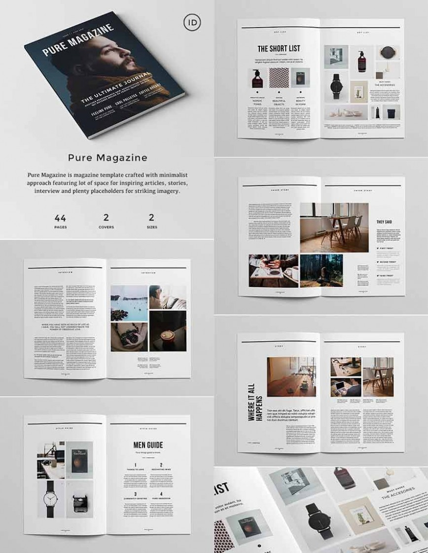 006 Archaicawful Magazine Template For Microsoft Word Inspiration  Layout Article Free