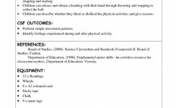 006 Archaicawful Physical Education Lesson Plan Template Example  Templates Free Elementary Cortland