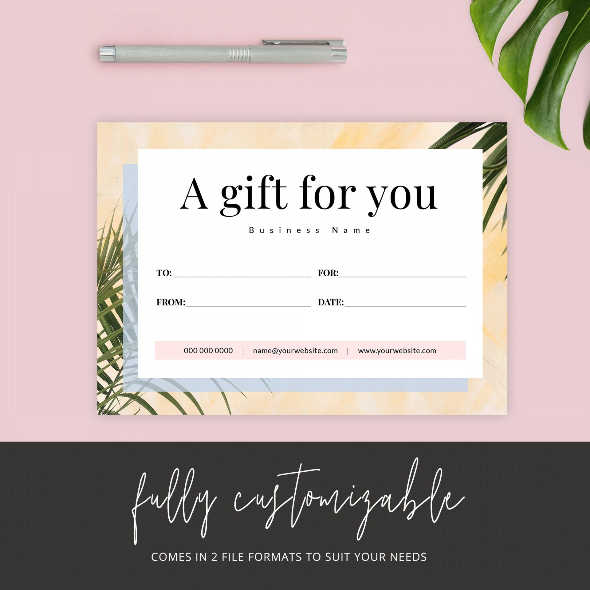 006 Archaicawful Printable Gift Certificate Template Design  Card Free Christma Massage1920