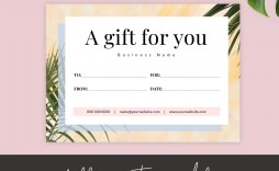 006 Archaicawful Printable Gift Certificate Template Design  Card Free Christma Massage