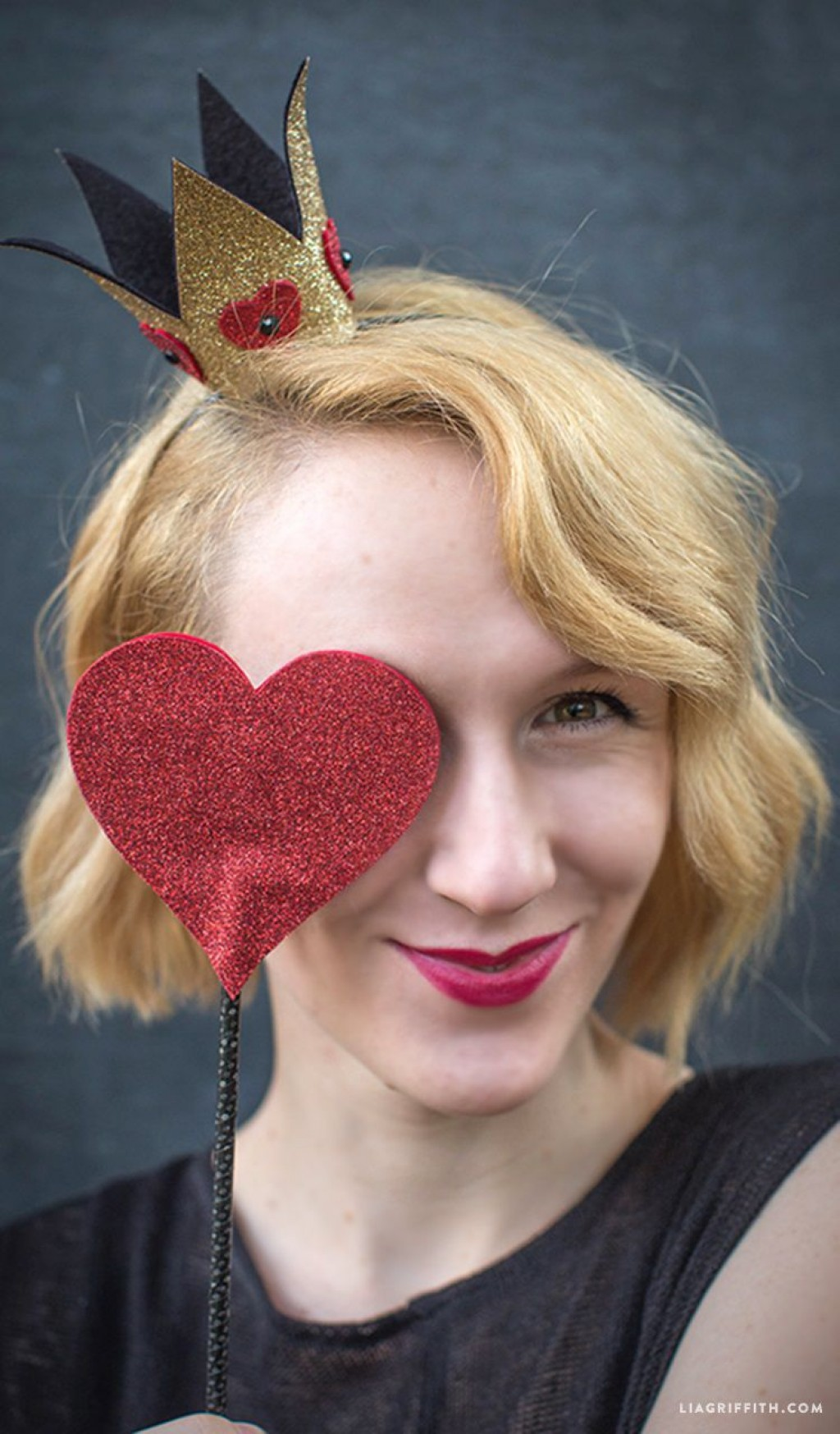 006 Archaicawful Queen Of Heart Crown Pattern Idea  Printable Template Headband DiyLarge
