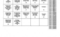 006 Archaicawful School Lunch Menu Template Design  Monthly Free Printable Blank