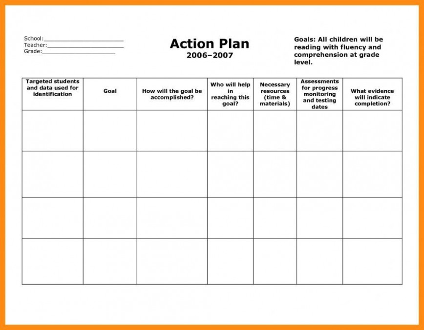 006 Archaicawful Smart Action Plan Template Highest Clarity  Excel Format