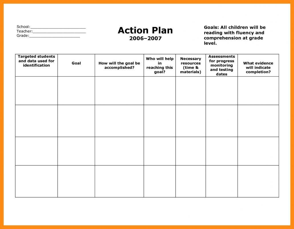 006 Archaicawful Smart Action Plan Template Highest Clarity  Download Nh Example FreeFull
