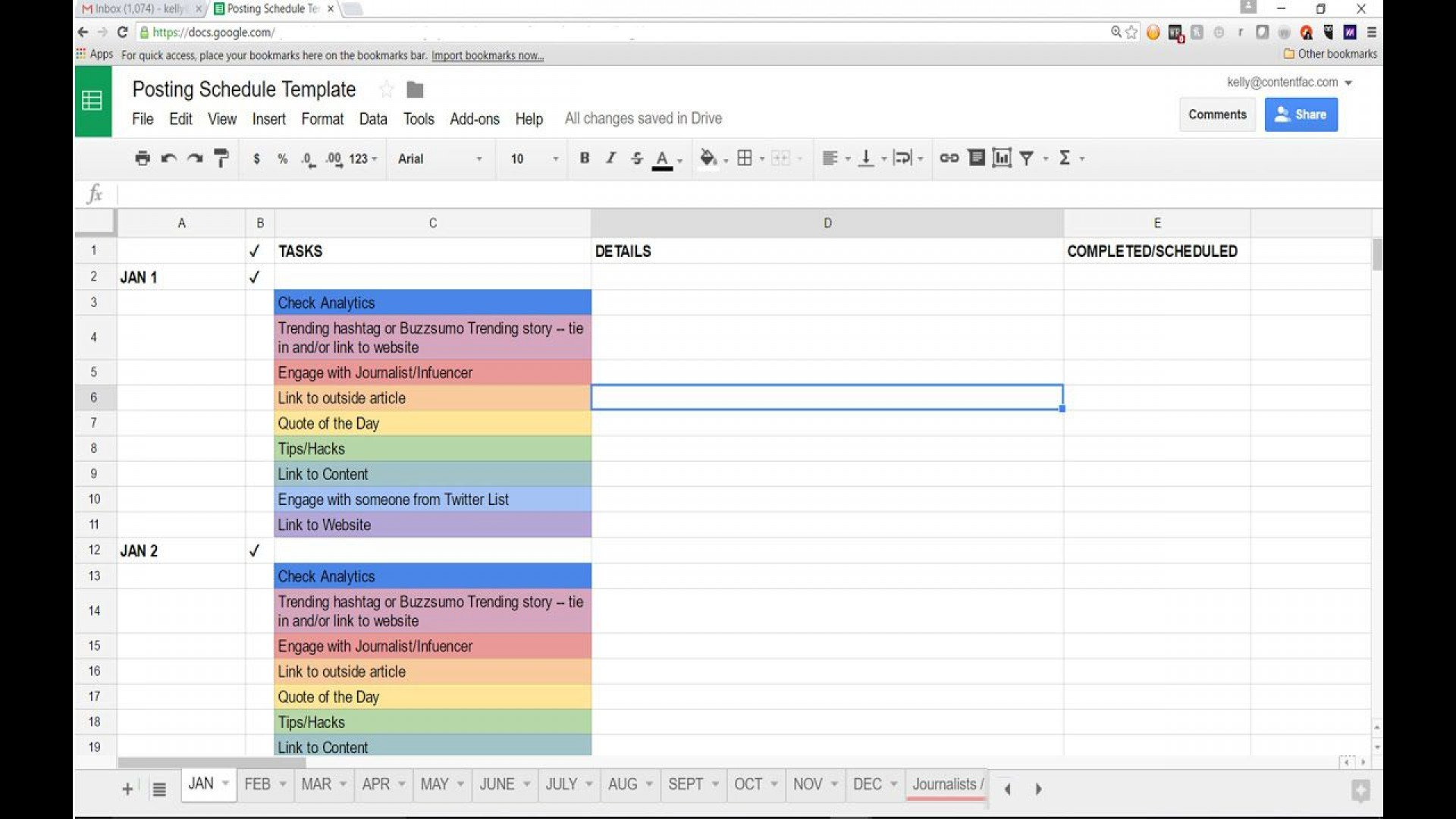 006 Archaicawful Social Media Editorial Calendar Template Photo  Content Excel 2020 Free Download1920