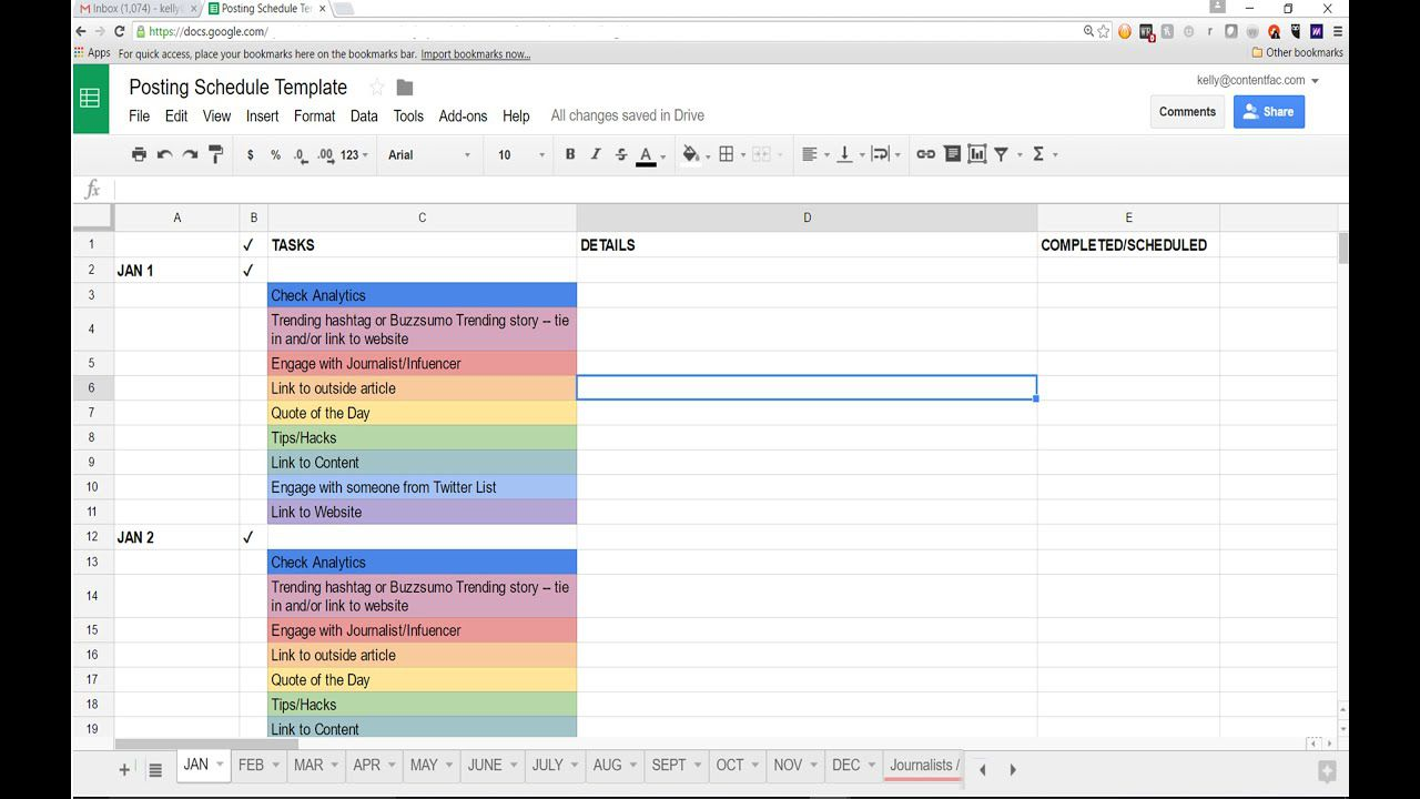 006 Archaicawful Social Media Editorial Calendar Template Photo  Content Excel 2020 Free DownloadFull