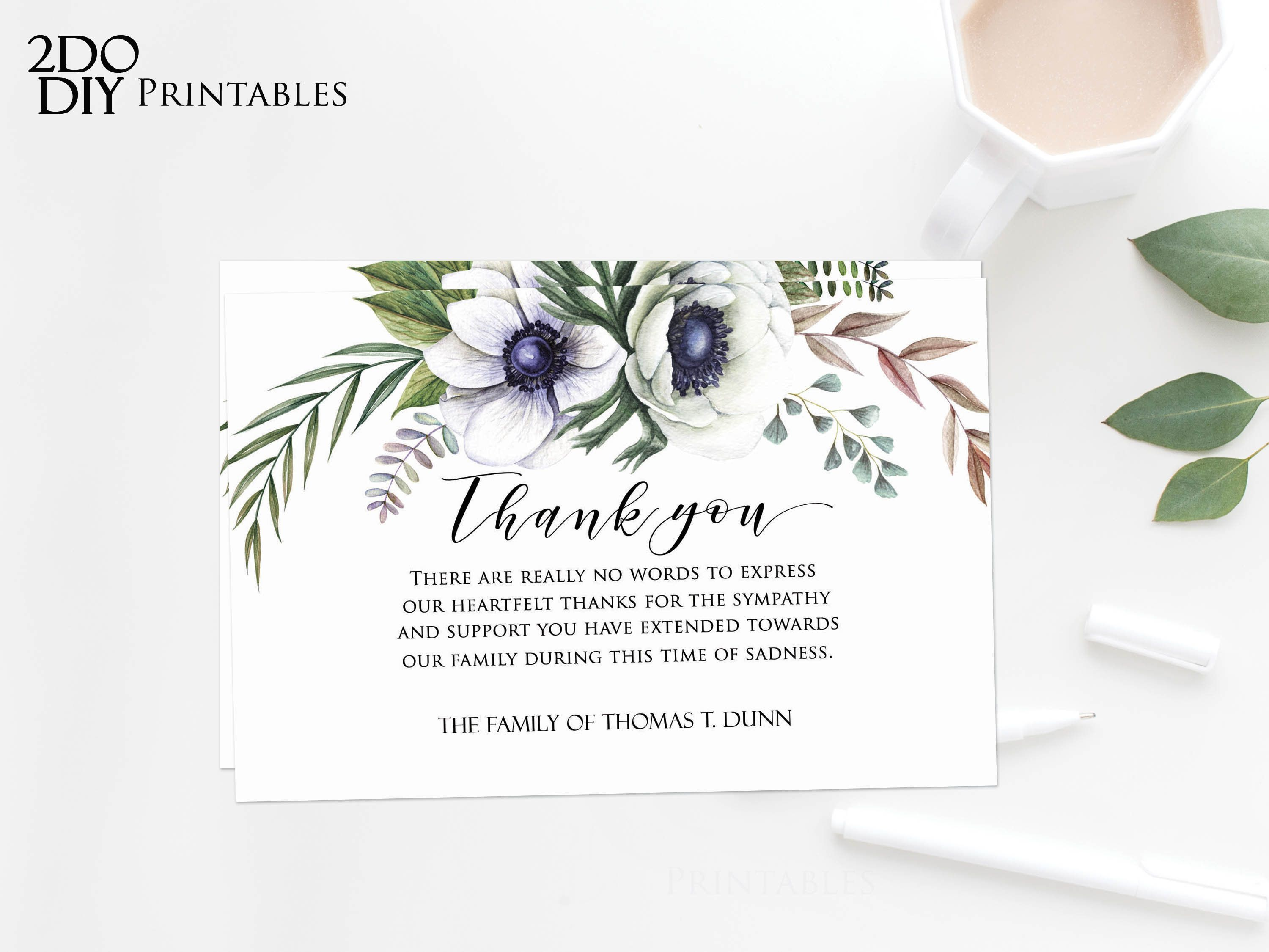 006 Archaicawful Thank You Note Template Microsoft Word Design  Card Free Funeral LetterFull