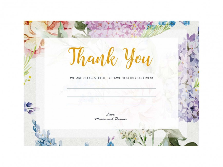 006 Archaicawful Wedding Thank You Card Template Psd Sample  Free