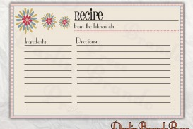 006 Astounding 4 X 6 Recipe Card Template Microsoft Word Inspiration