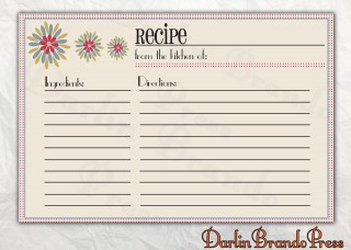 006 Astounding 4 X 6 Recipe Card Template Microsoft Word Inspiration 320