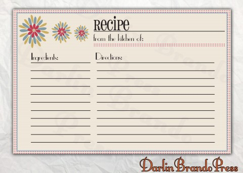 006 Astounding 4 X 6 Recipe Card Template Microsoft Word Inspiration 480
