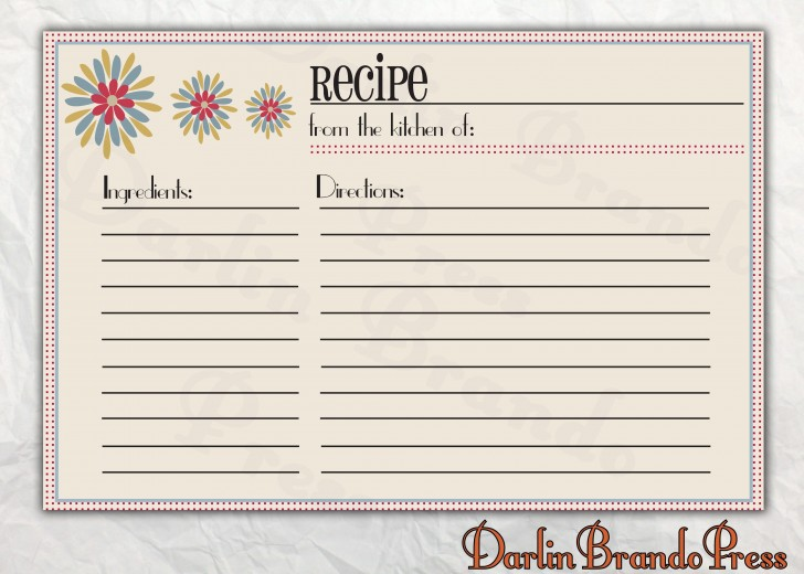 006 Astounding 4 X 6 Recipe Card Template Microsoft Word Inspiration 728