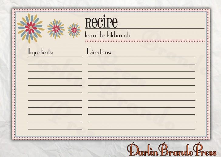 006 Astounding 4 X 6 Recipe Card Template Microsoft Word Inspiration 728