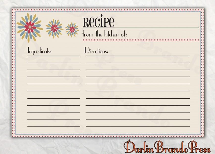 006 Astounding 4 X 6 Recipe Card Template Microsoft Word Inspiration 868