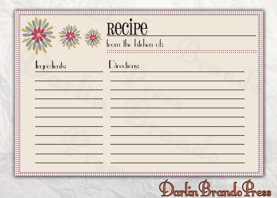 006 Astounding 4 X 6 Recipe Card Template Microsoft Word Inspiration 960