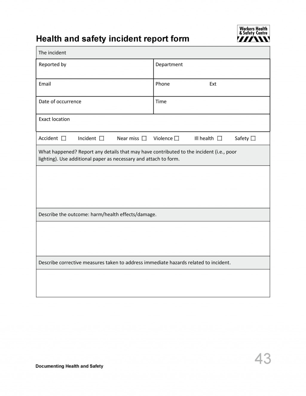006 Astounding Accident Report Form Template Idea  Free South Africa PdfLarge