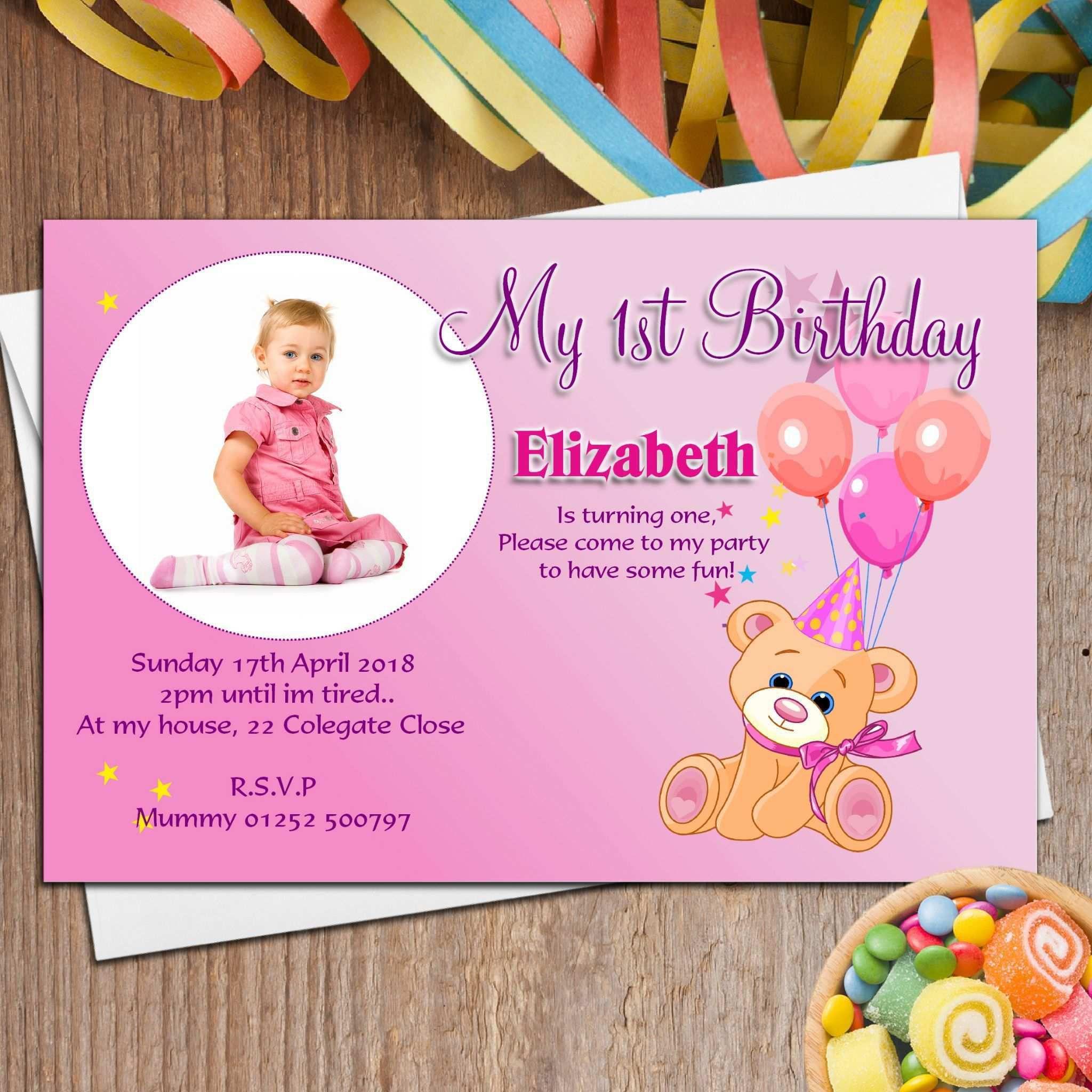 006 Astounding Birthday Invitation Card Word Format Design  Template FreeFull