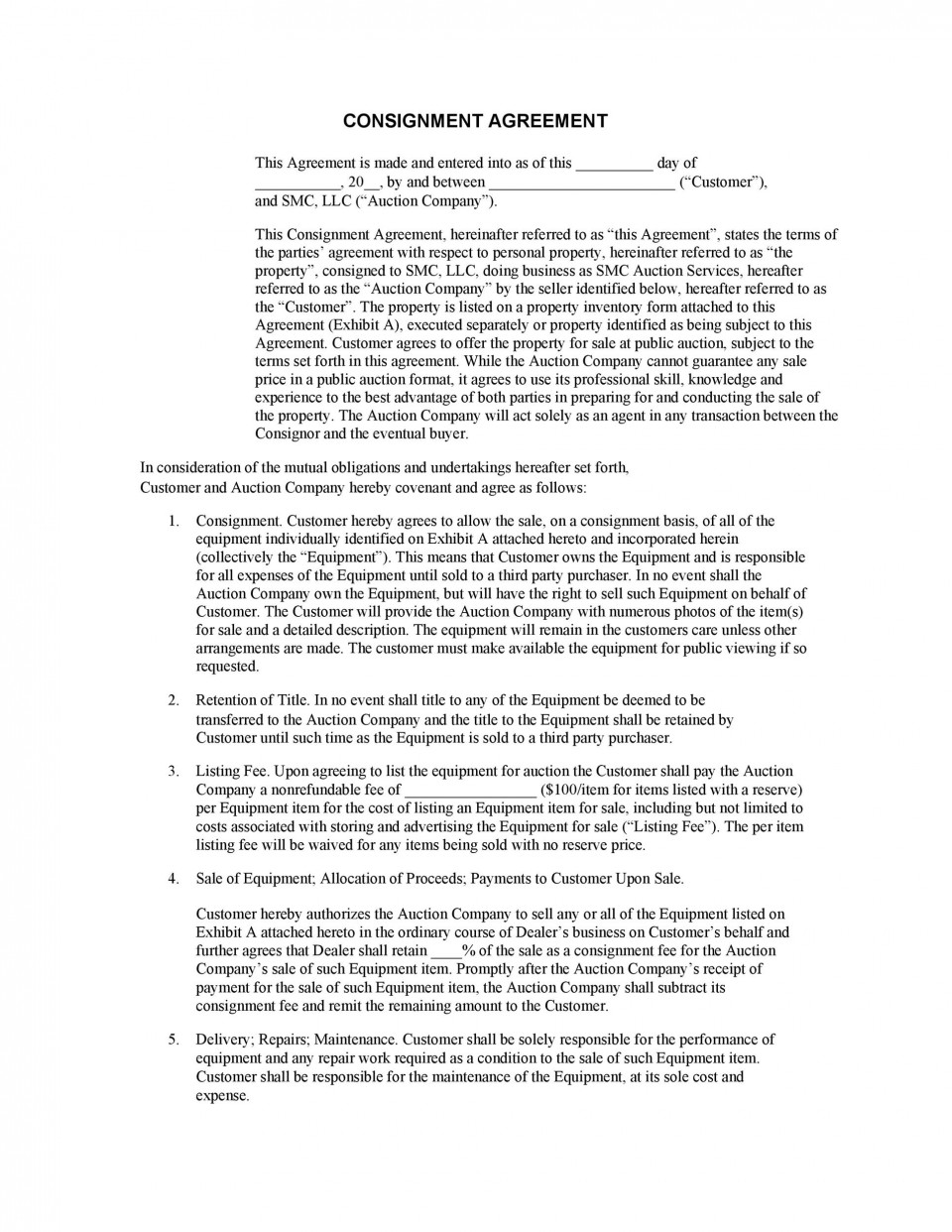 006 Astounding Exclusive Distribution Agreement Template Canada Inspiration 960