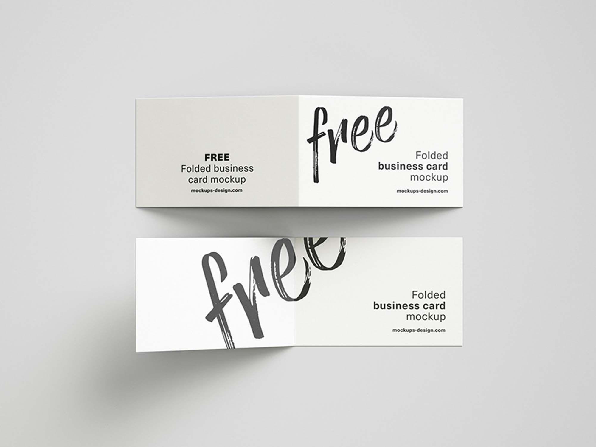 006 Astounding Folding Busines Card Template Highest Quality  Folded Photoshop Ai FreeFull
