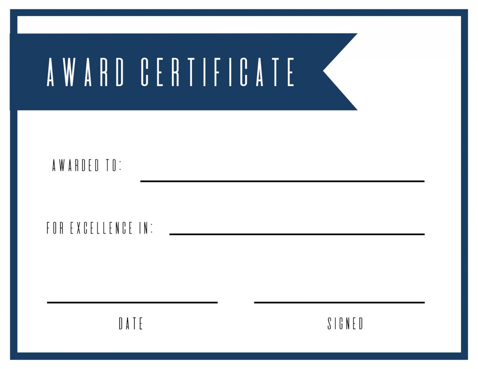 006 Astounding Free Printable Blank Certificate Template High Def  Templates Gift Of Achievement1920