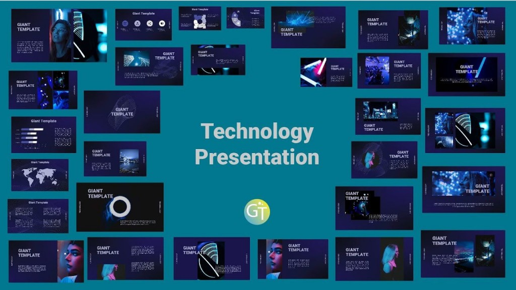 006 Astounding Free Technology Powerpoint Template Idea  Templates Animated Information DownloadLarge