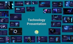 006 Astounding Free Technology Powerpoint Template Idea  Templates Animated Information Download
