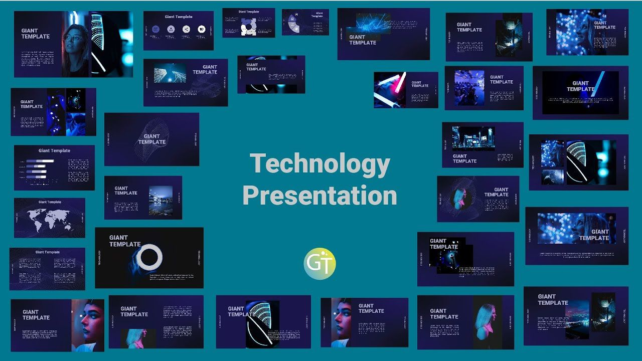 006 Astounding Free Technology Powerpoint Template Idea  Templates Animated Information DownloadFull