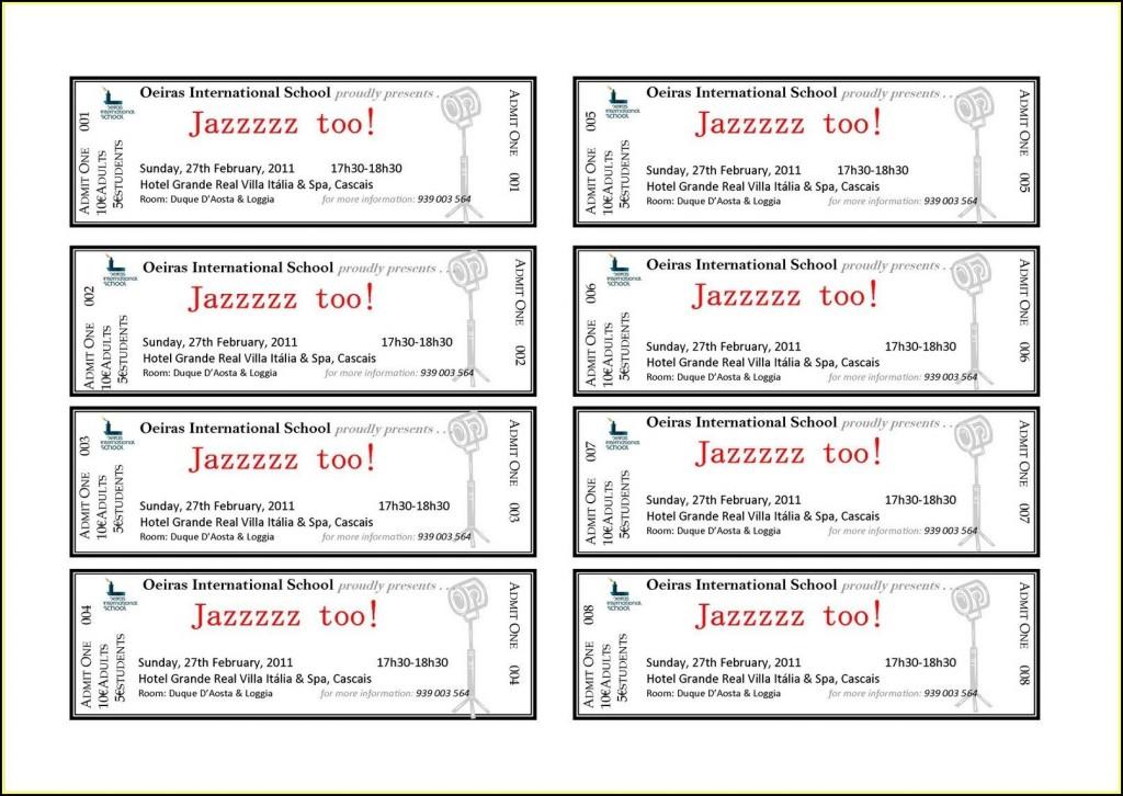 006 Astounding Free Ticket Template Word Inspiration  Design Event MicrosoftLarge