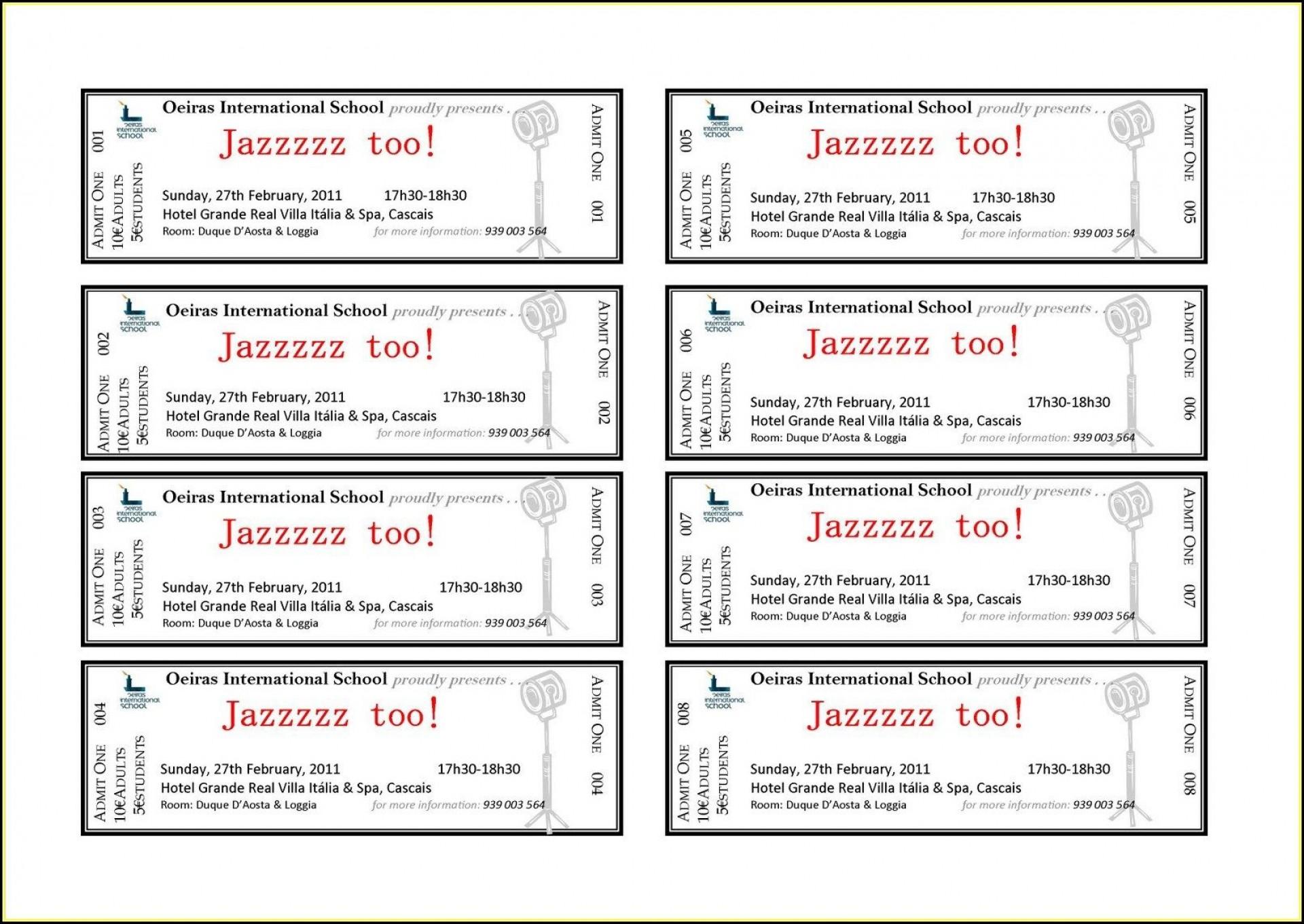 006 Astounding Free Ticket Template Word Inspiration  Design Event Microsoft1920