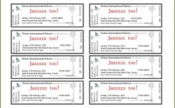 006 Astounding Free Ticket Template Word Inspiration  Design Event Microsoft