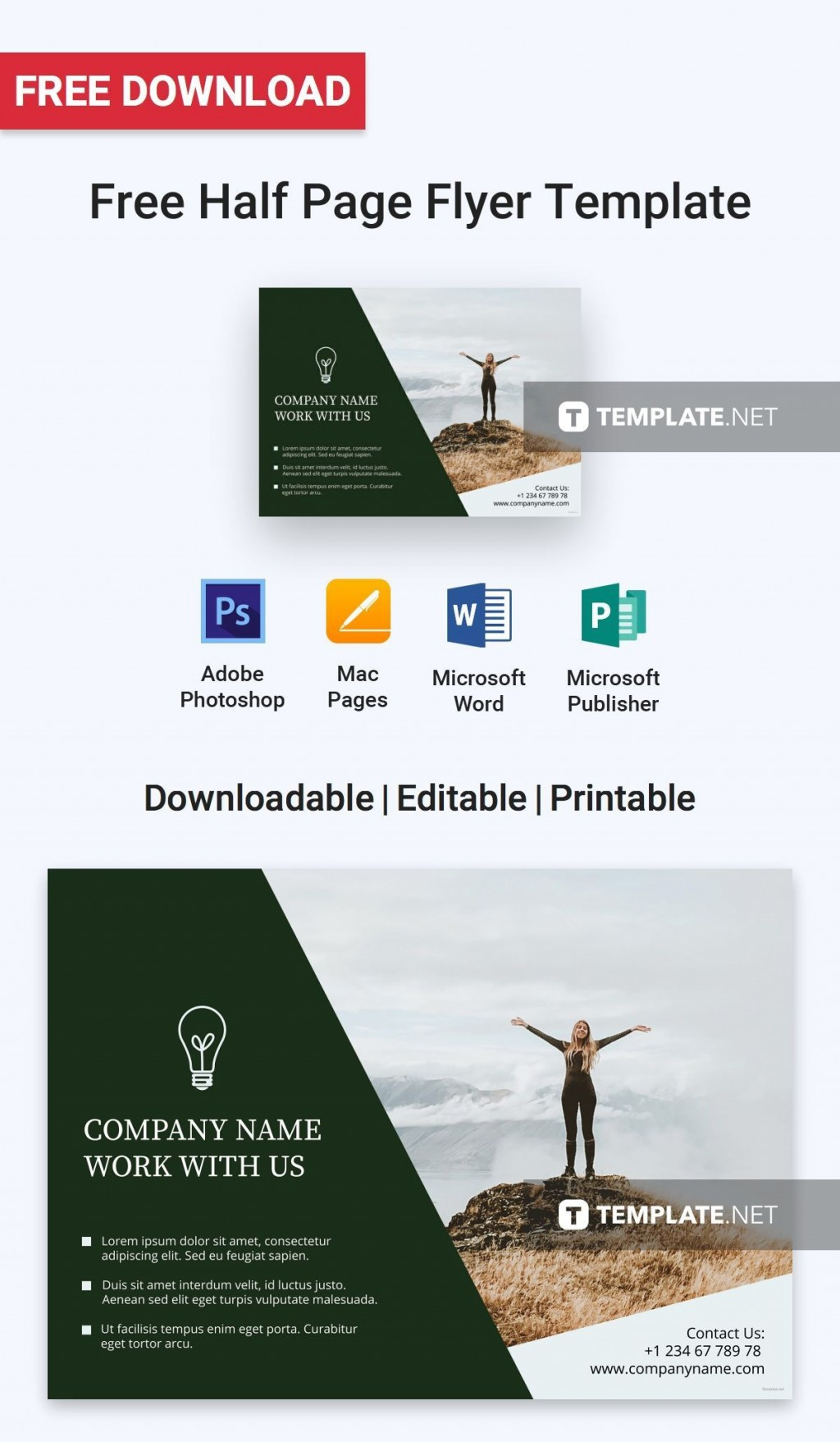 006 Astounding Half Page Flyer Template Photo  Templates Google Doc Free Word CanvaLarge
