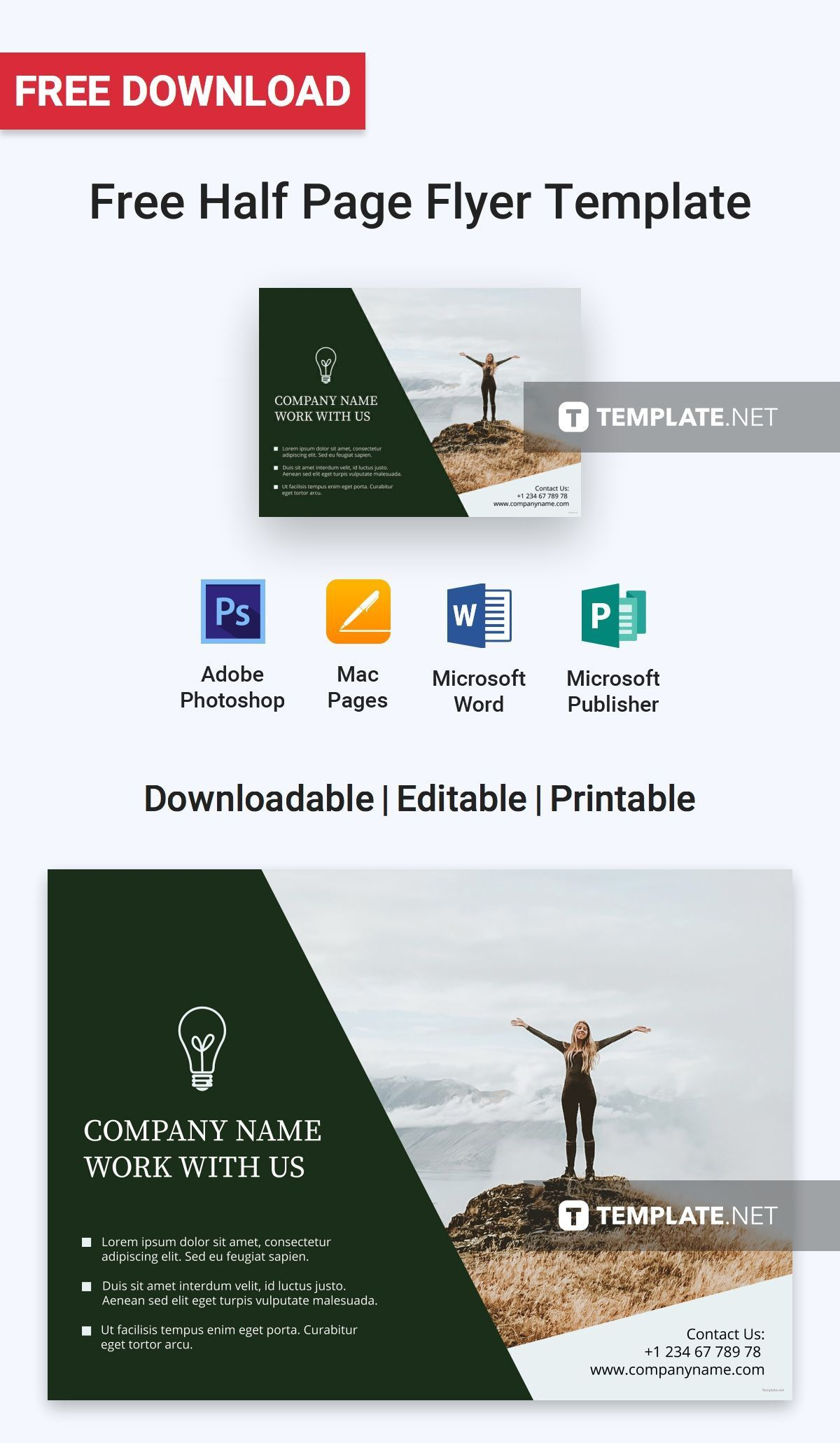 006 Astounding Half Page Flyer Template Photo  Templates Google Doc Free Word CanvaFull