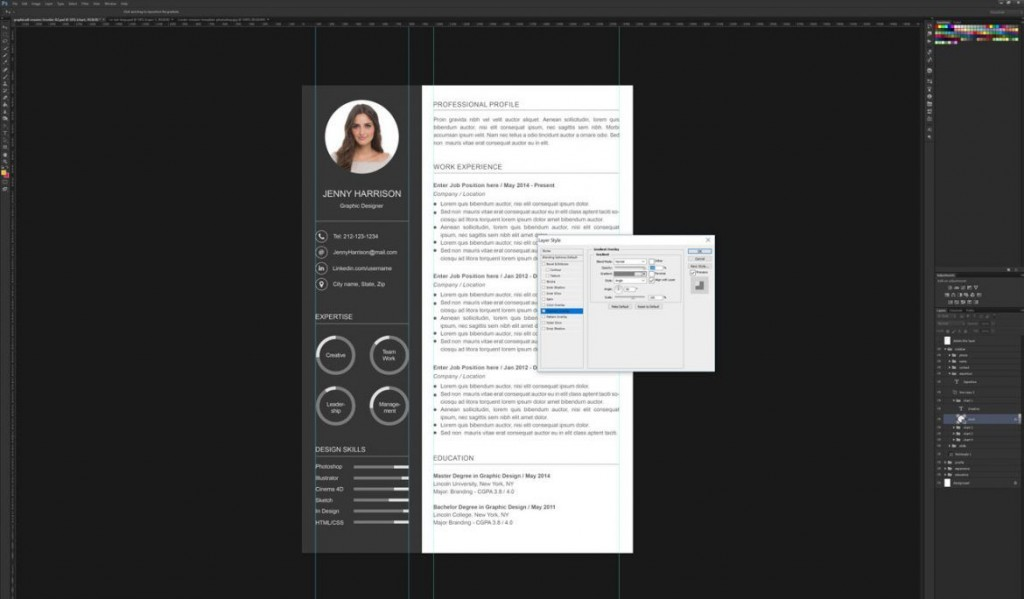 006 Astounding How To Create A Resume Template In Photoshop Idea Large