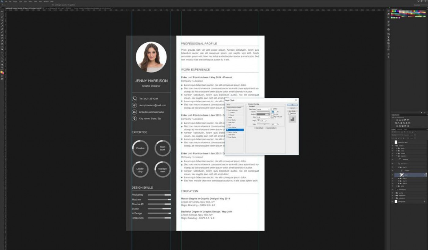006 Astounding How To Create A Resume Template In Photoshop Idea 1400