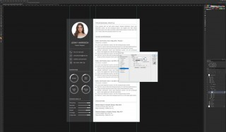 006 Astounding How To Create A Resume Template In Photoshop Idea 320