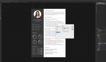 006 Astounding How To Create A Resume Template In Photoshop Idea 360