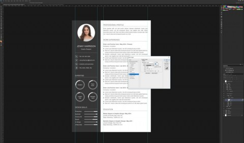 006 Astounding How To Create A Resume Template In Photoshop Idea 480