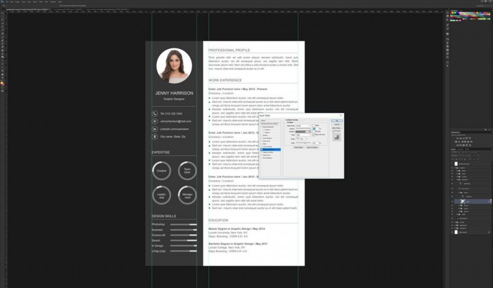 006 Astounding How To Create A Resume Template In Photoshop Idea 960