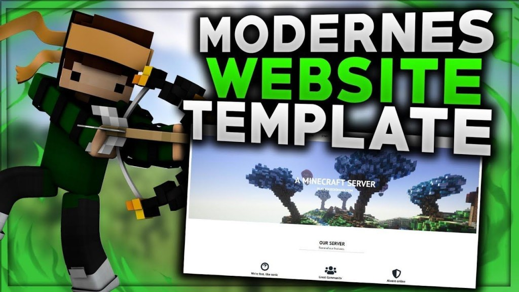 006 Astounding Minecraft Website Template Html Free Download Example Large