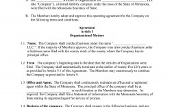 006 Astounding Operating Agreement Template For Llc High Def  Form Florida Texa