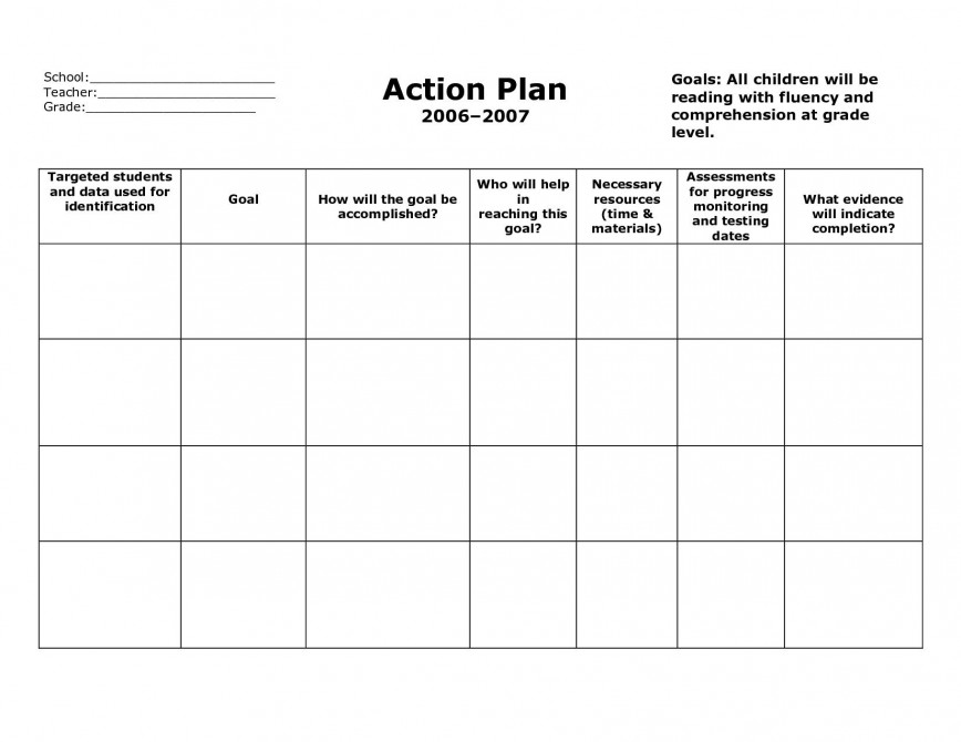 006 Astounding Plan Of Action Template Highest Clarity  Excel Pdf