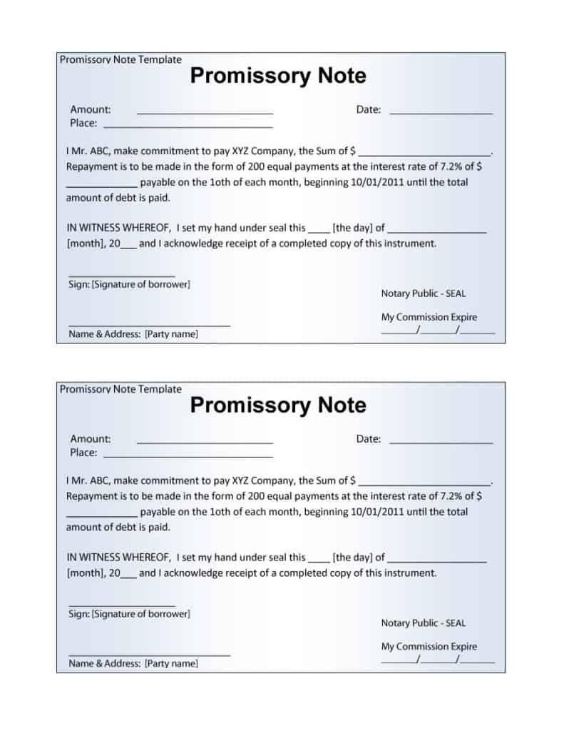 006 Astounding Promissory Note Word Template Sample  2007 Document Uk IndiaFull