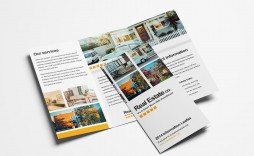 006 Astounding Three Fold Brochure Template Psd High Resolution  A4 3 Free