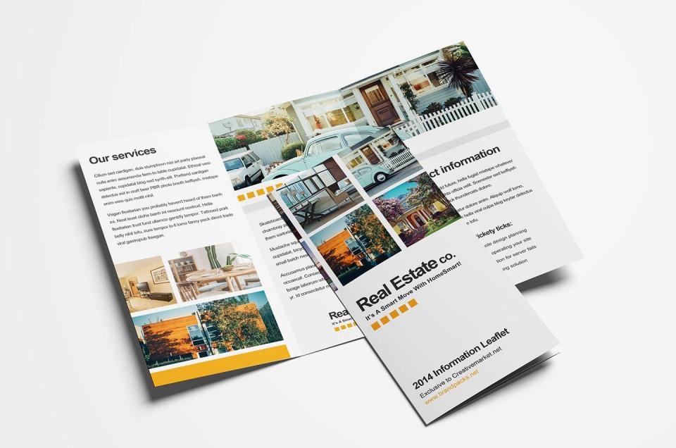 006 Astounding Three Fold Brochure Template Psd High Resolution  Free 3 A4 Tri Download960