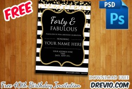 006 Awesome 40th Birthday Party Invite Template Free Inspiration